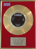 "BUDDY HOLLY - 7""Gold Disc- BABY I DON'T CARE"